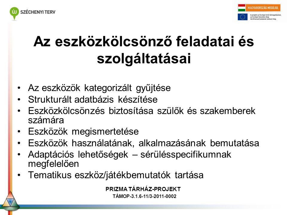 Ori Szerialitás Ori Gondolkodás PRIZMA TÁRHÁZ-PROJEKT TÁMOP-3.1.6-11/3-2011-0002