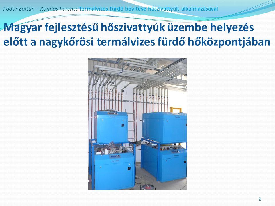 Fodor Zoltán – Komlós Ferenc: Termálvizes fürdő bővítése hőszivattyúk alkalmazásával Az új úszó- és tanmedence (kiskőrösi termálfürdő) 10