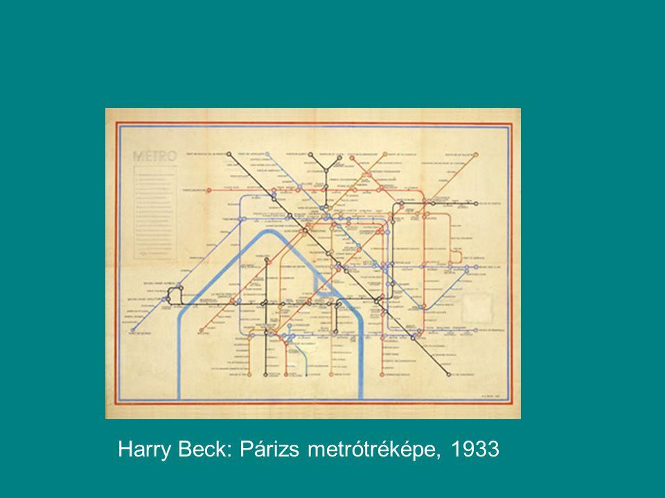Harry Beck: Párizs metrótréképe, 1933