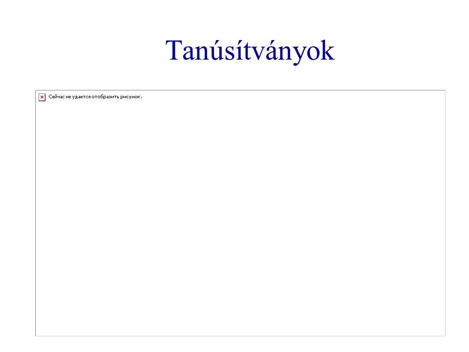 Dokumentumok típusai  Elektronikus dokumentum: elektronikus eszköz útján értelmezhető adategyüttes.