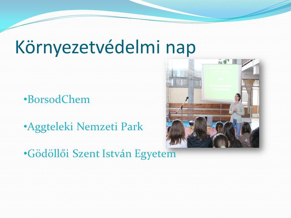 Környezetvédelmi nap • BorsodChem • Aggteleki Nemzeti Park • Gödöllői Szent István Egyetem