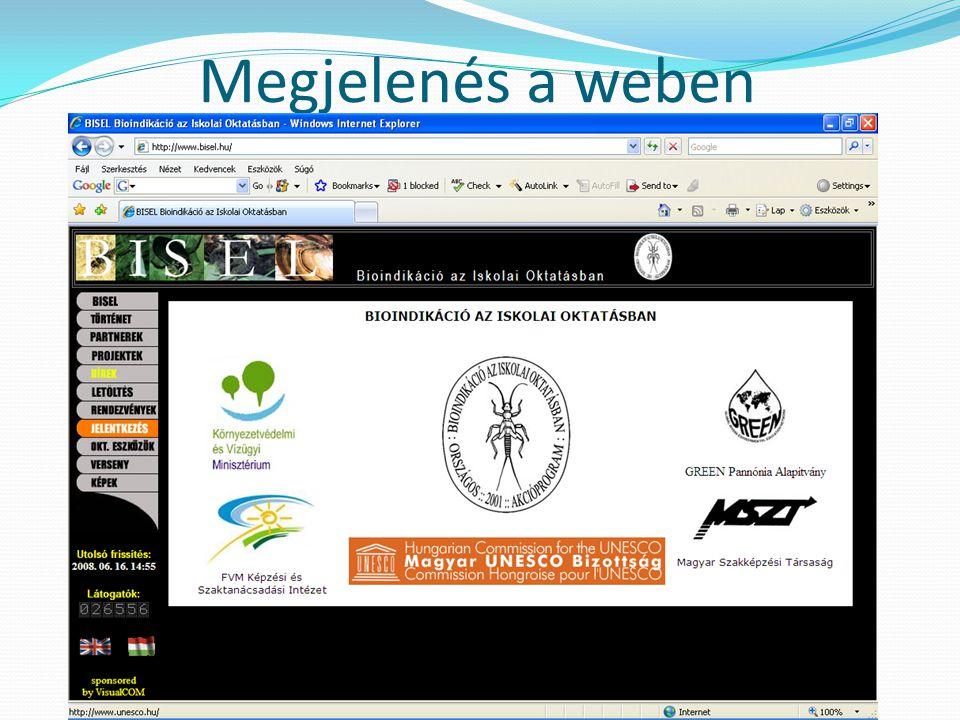 """BISEL Biotic Index at Secondary Education Level  2001-2004 között elnyerte a Kossuth Lajos Általános Iskola a """"BISEL akcióprogram legeredményesebb iskolája címet  Biotikus index, jegyzőkönyvvezetés, gps, fotó, internet"""