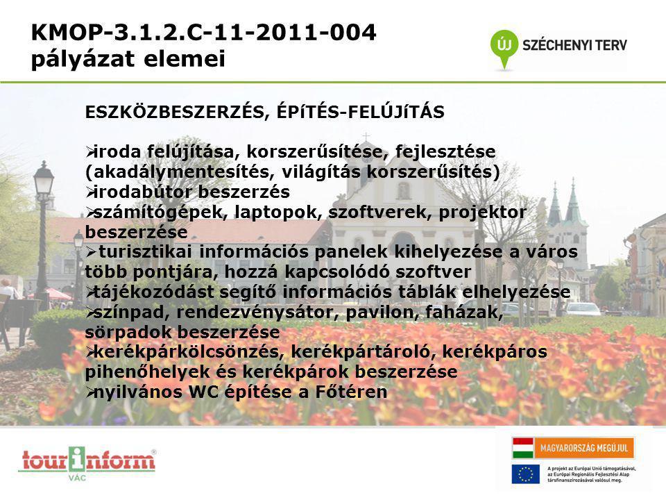 KMOP-3.1.2.C-11-2011-004 pályázat elemei ESZKÖZBESZERZÉS, ÉPíTÉS-FELÚJíTÁS  iroda felújítása, korszerűsítése, fejlesztése (akadálymentesítés, világít