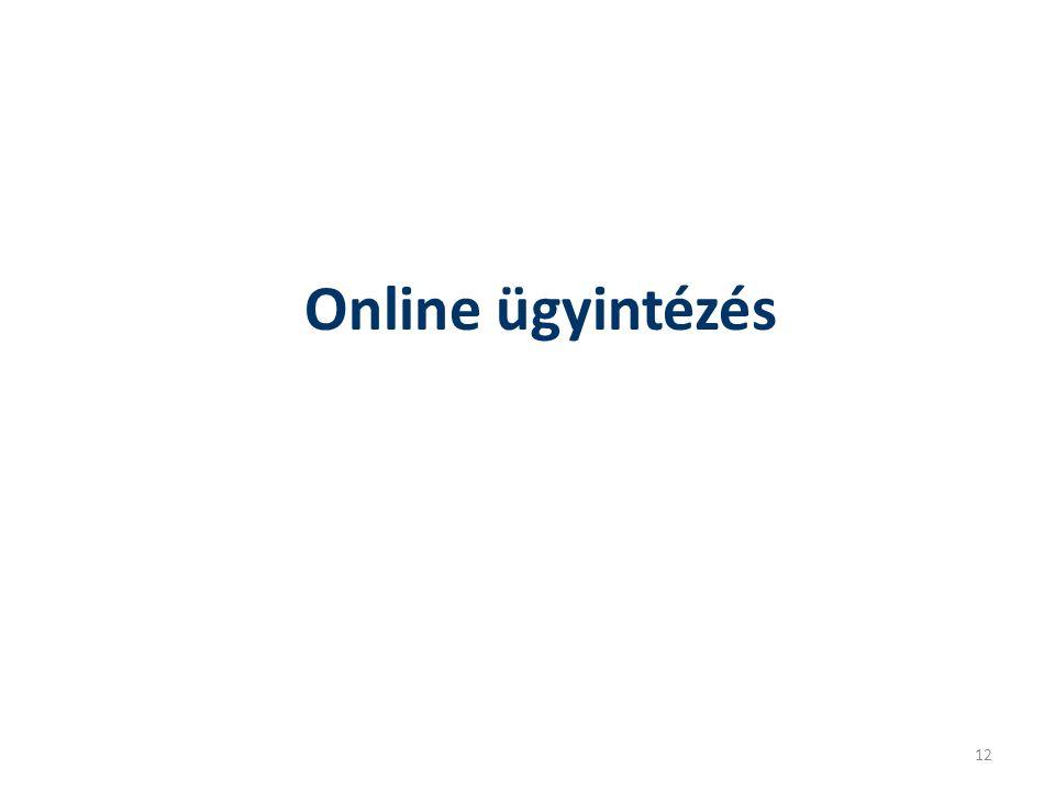 Online ügyintézés 12
