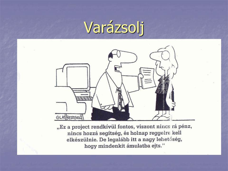 """A projektmenedzser feladatai Projektirányítás (""""pókszerep ) Általános feladatok (projekttípustól függetlenül) - Projektiktatás, adminisztráció, jelentések elkészítése - Kommunikáció, disszemináció - Partnerség fenntartása, kapcsolattartás Projekttől függő feladatok - Szakmai tartalom megvalósítása - Közbeszerzés NEM SZENTÍRÁS, HANEM GYAKORLAT!"""
