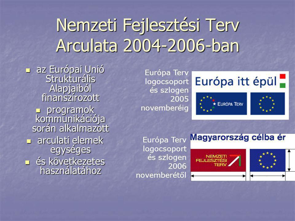 Nemzeti Fejlesztési Terv Arculata 2004-2006-ban  az Európai Unió Strukturális Alapjaiból finanszírozott  programok kommunikációja során alkalmazott