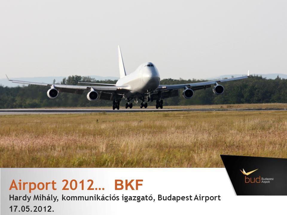 Airport 2012… BKF Hardy Mihály, kommunikációs igazgató, Budapest Airport 17. 05.201 2.
