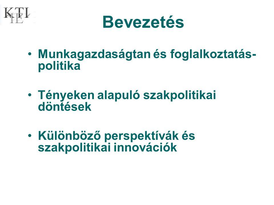 •Munkagazdaságtan és foglalkoztatás- politika •Tényeken alapuló szakpolitikai döntések •Különböző perspektívák és szakpolitikai innovációk Bevezetés