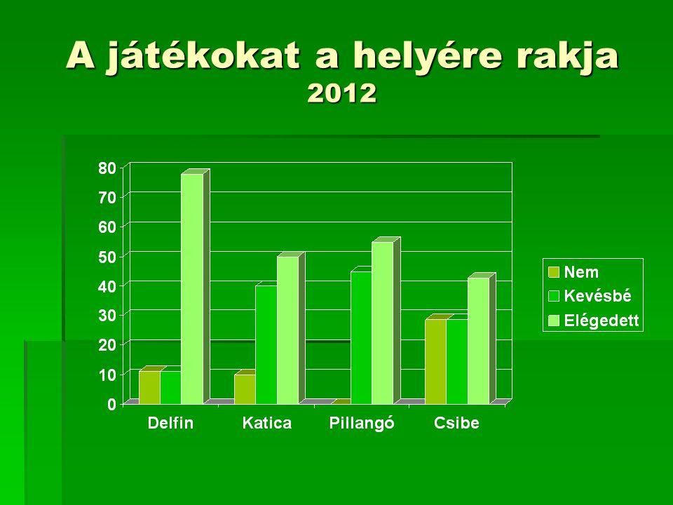 A játékokat a helyére rakja 2012