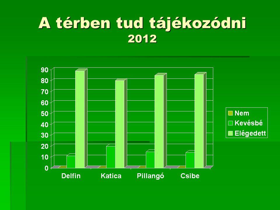 A térben tud tájékozódni 2012