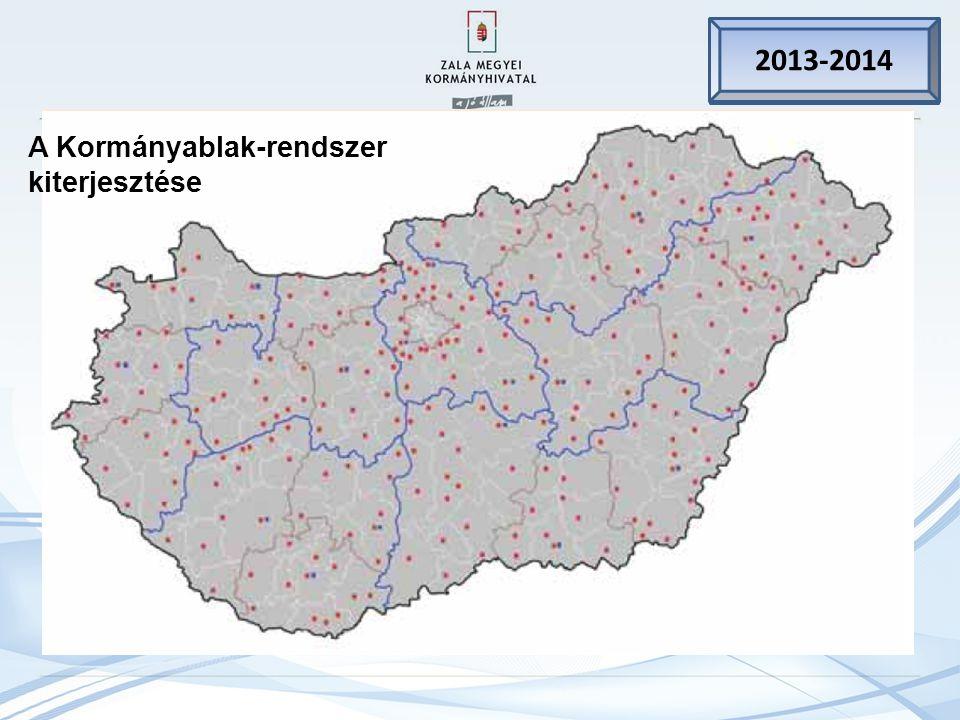 2011. jan. 1. 2013-2014 A Kormányablak-rendszer kiterjesztése
