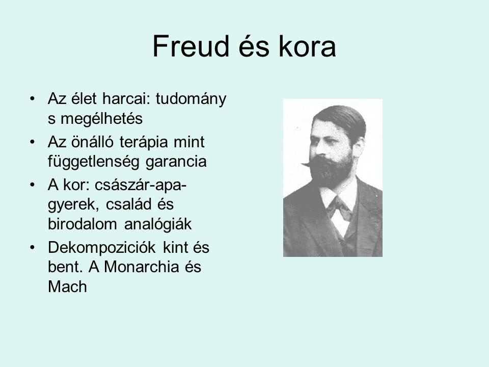Freud és kora •Az élet harcai: tudomány s megélhetés •Az önálló terápia mint függetlenség garancia •A kor: császár-apa- gyerek, család és birodalom an