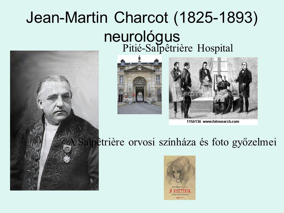 Jean-Martin Charcot (1825-1893) neurológus Pitié-Salpêtrière Hospital A Salpêtrière orvosi színháza és foto győzelmei