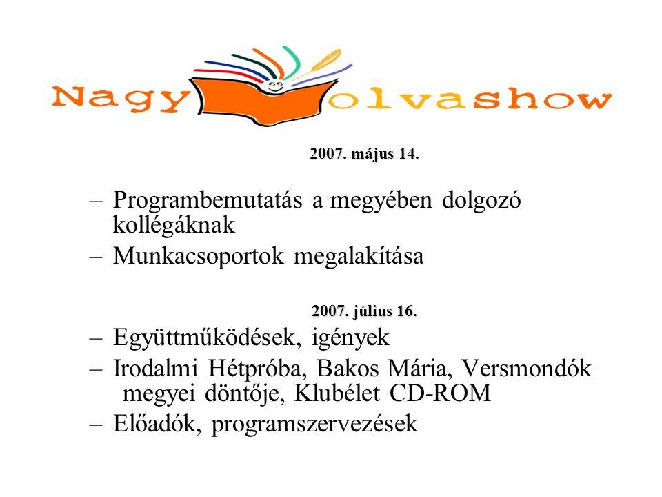 Nagy Olvashow a Jász-Nagykun-Szolnok Megyei Verseghy Ferenc Könyvtár és Művelődési Intézetben 2007.