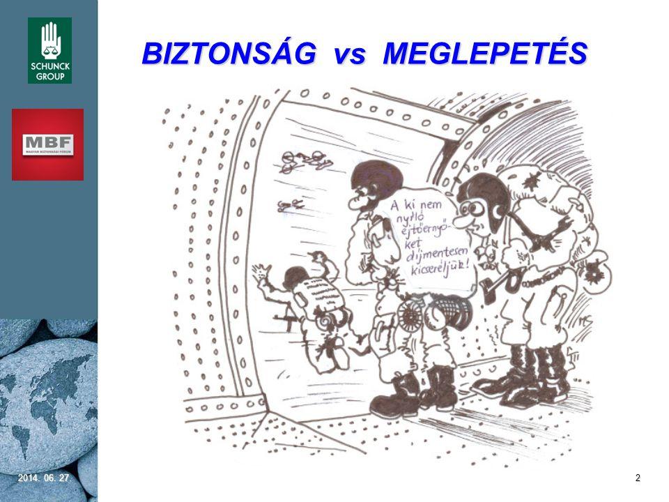 BIZTONSÁG vs MEGLEPETÉS 2014. 06. 27.2014. 06. 27.2014. 06. 27.2