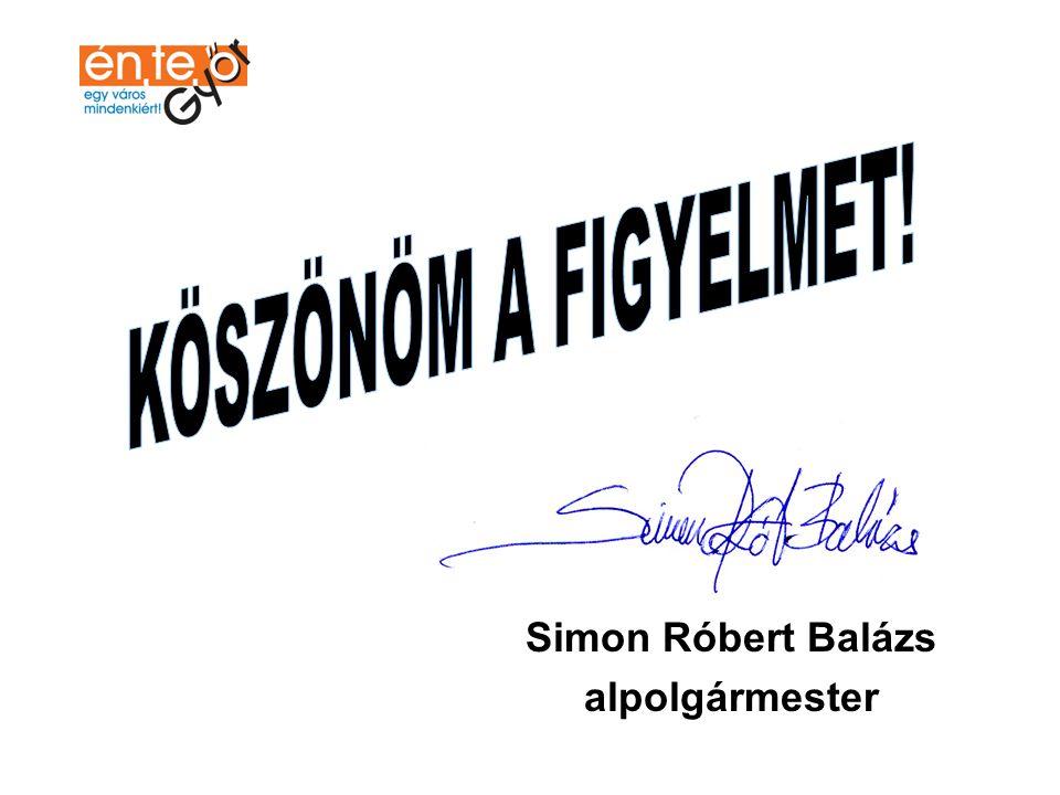 Simon Róbert Balázs alpolgármester