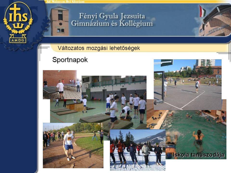 Változatos mozgási lehetőségek Sportnapok Iskola tanuszodája