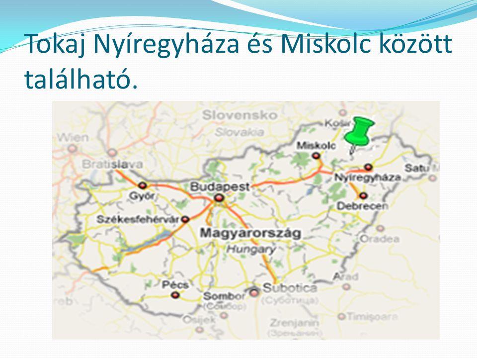 Tokaj Nyíregyháza és Miskolc között található.