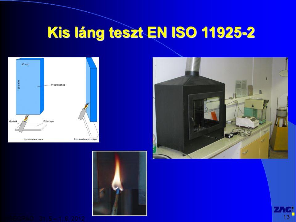 13 VISEGRAD 31. 5 – 1. 6. 2012 Kis láng teszt EN ISO 11925-2