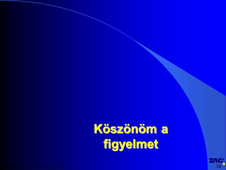 38 VISEGRAD 31. 5 – 1. 6. 2012 Köszönöm a figyelmet