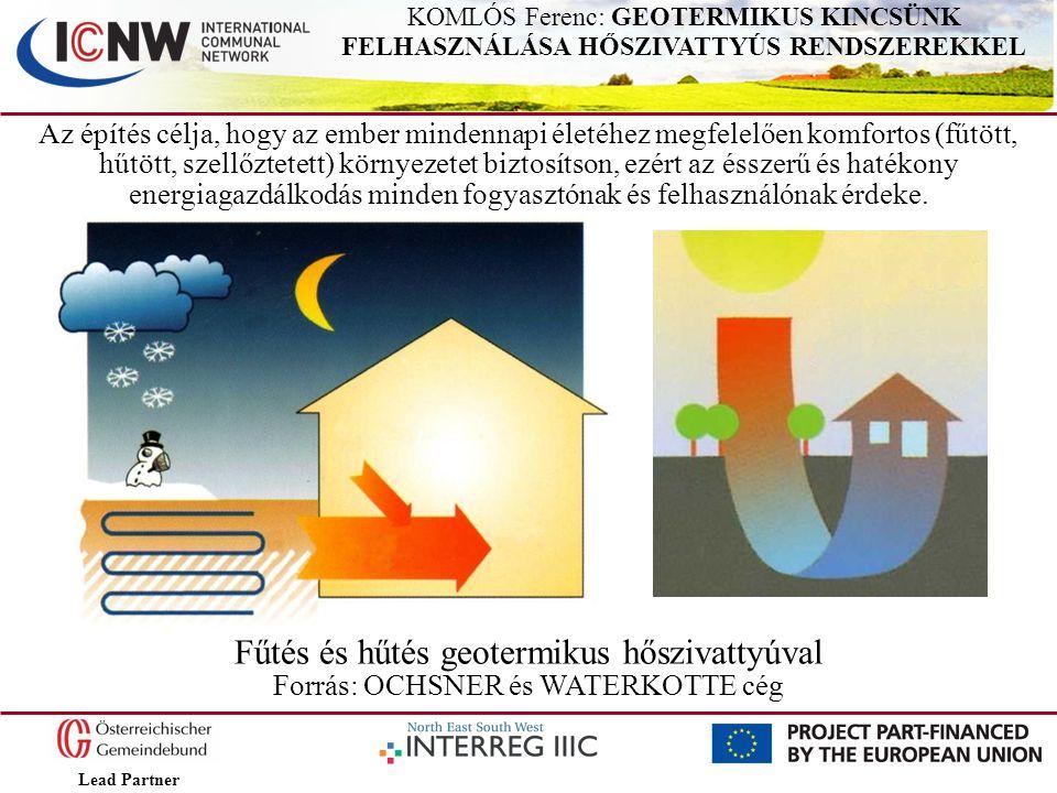 Lead Partner KOMLÓS Ferenc: GEOTERMIKUS KINCSÜNK FELHASZNÁLÁSA HŐSZIVATTYÚS RENDSZEREKKEL Az építés célja, hogy az ember mindennapi életéhez megfelelő
