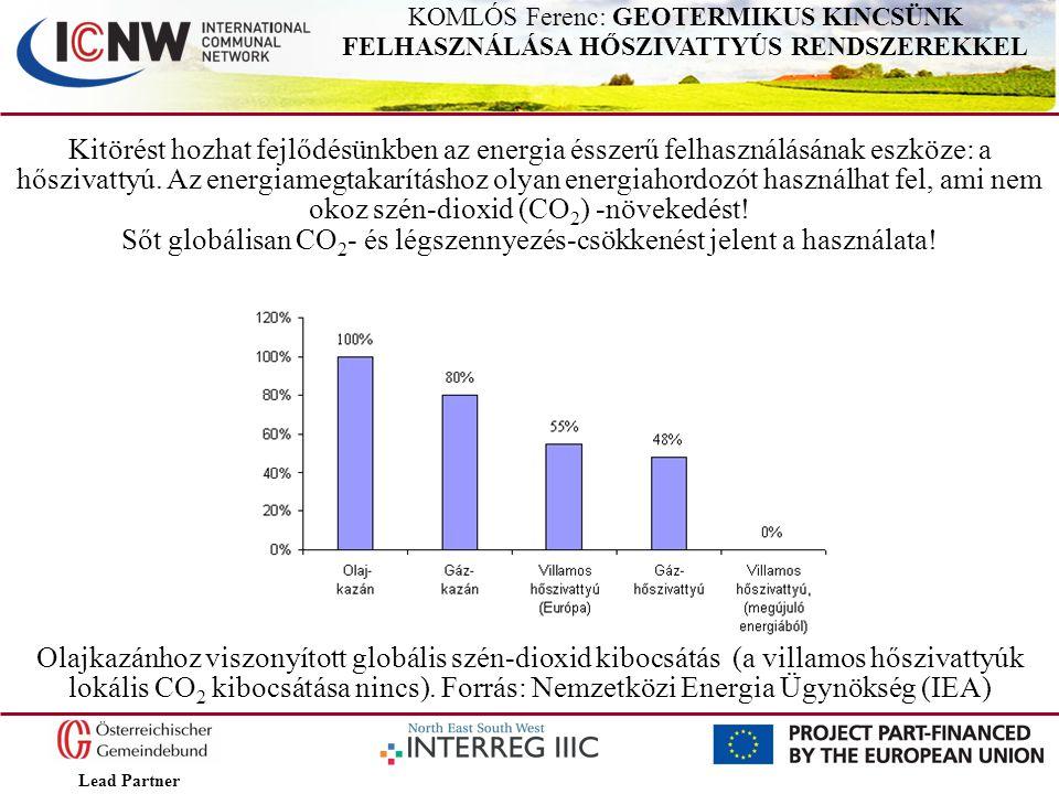 Lead Partner KOMLÓS Ferenc: GEOTERMIKUS KINCSÜNK FELHASZNÁLÁSA HŐSZIVATTYÚS RENDSZEREKKEL Kitörést hozhat fejlődésünkben az energia ésszerű felhasznál