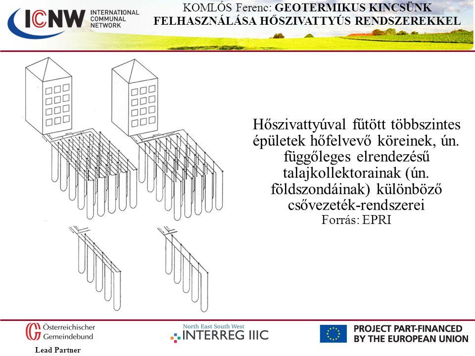 Lead Partner KOMLÓS Ferenc: GEOTERMIKUS KINCSÜNK FELHASZNÁLÁSA HŐSZIVATTYÚS RENDSZEREKKEL Hőszivattyúval fűtött többszintes épületek hőfelvevő köreine