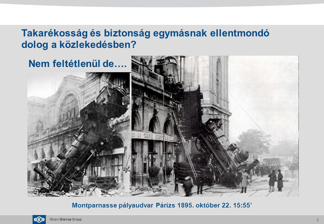 Knorr-Bremse Group 3 Nem feltétlenül de…. Montparnasse pályaudvar Párizs 1895. október 22. 15:55' Takarékosság és biztonság egymásnak ellentmondó dolo