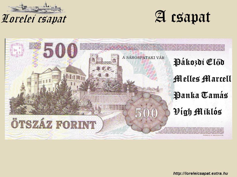 http://loreleicsapat.extra.hu Pákozdi El ő d Melles Marcell Panka Tamás Vígh Miklós A csapat