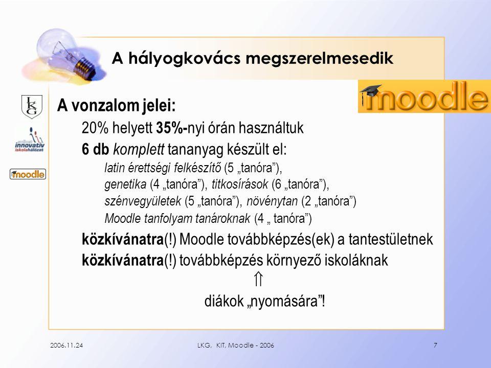 2006.11.24LKG, KIT, Moodle - 20068 LKG ToP – a kapcsolat gyümölcse www.leovey.hu/moodle/
