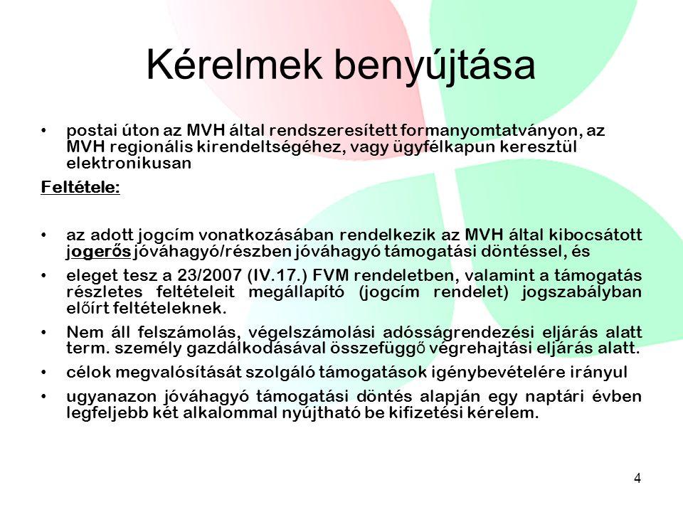 Építéssel járó tevékenységek 23/2007.(IV.17. ) FVM rendelet 30.