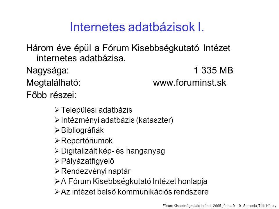 Három éve épül a Fórum Kisebbségkutató Intézet internetes adatbázisa.