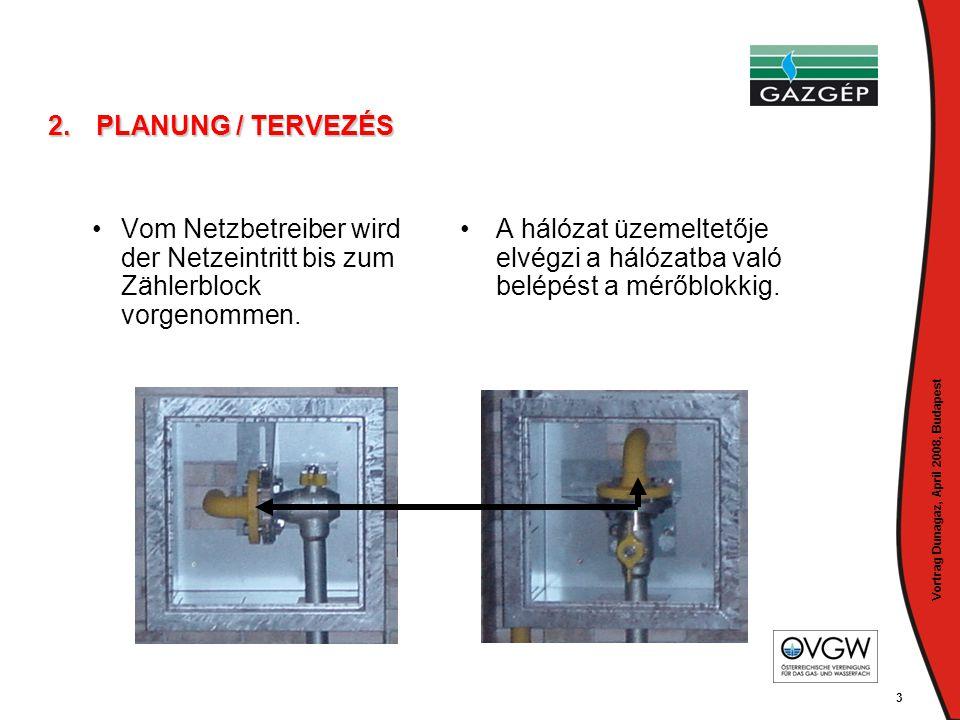 Vortrag Dunagaz, April 2008, Budapest 4 2.PLANUNG / TERVEZÉS • •Es muss vom Anlagenbetreiber ein befugtes Unternehmen (z.B.