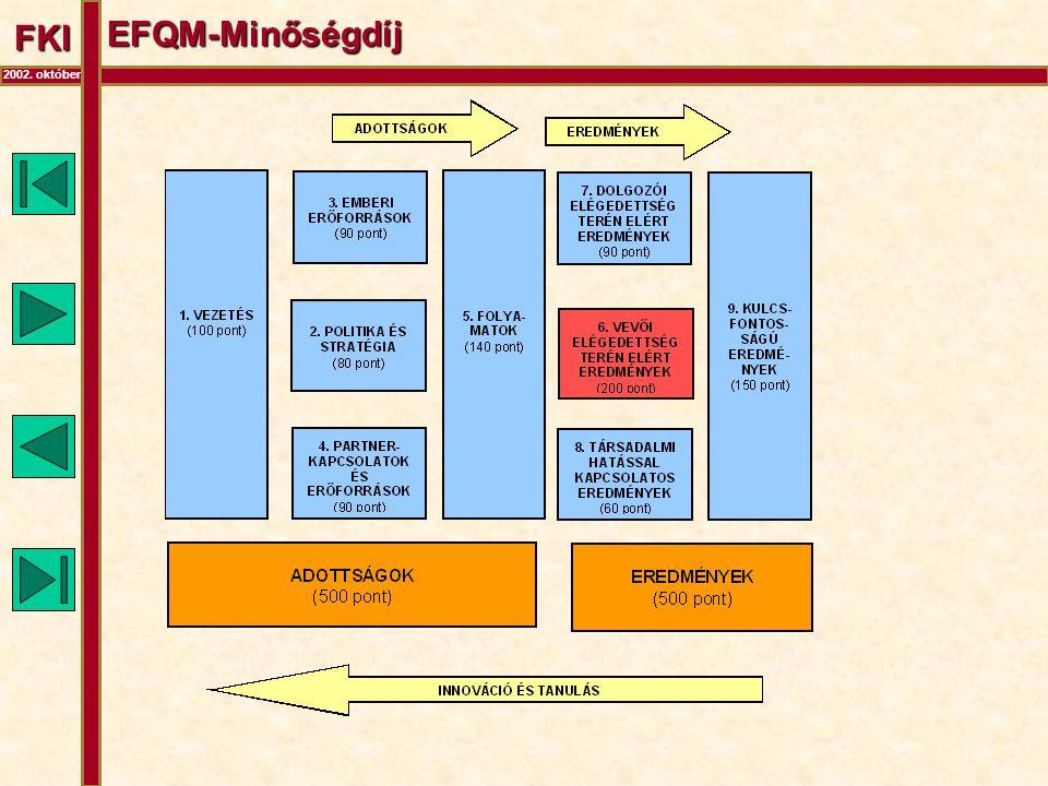 FKI 2002. október EFQM-Minőségdíj