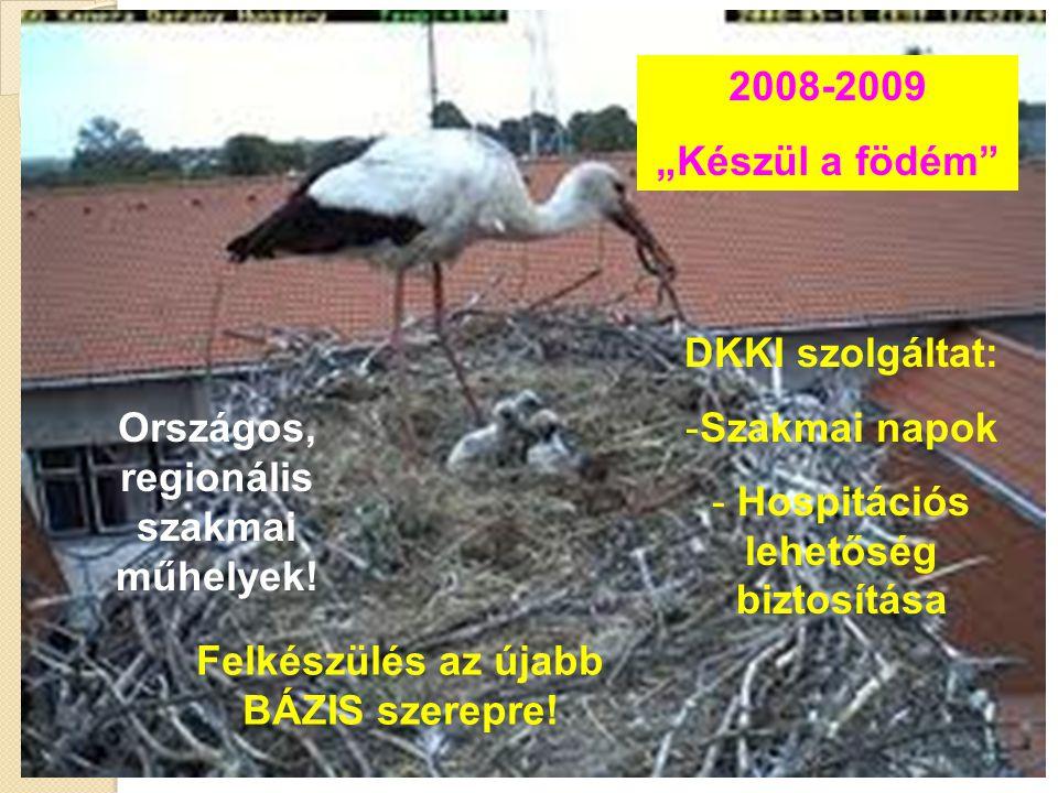 """2008-2009 """"Készül a födém"""" Országos, regionális szakmai műhelyek! DKKI szolgáltat: -Szakmai napok - Hospitációs lehetőség biztosítása Felkészülés az ú"""
