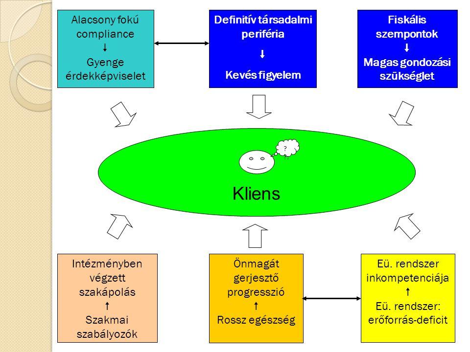 Cél és értékrendszer, munkamódszerek: 1.Problémakör definiálása:egészségi csoportok kialakítása ápolási szükségletek megállapítása és összesítése 2.Konceptualizálás:célok, elvek, hatóterületek pillérek, munkamódszerek 3.Operacionalizálás:folyamatszabályozások, eljárásrendek protokollok portfolióképzés, kompetenciák kijelölése SZAKÁPOLÁS 4.Inputok meghatározása:szolgáltatási naturáliák megfelelősége pénzügyi háttér biztosítása humán erőforrások allokálása 5.Kritériumok kialakítása:inputok relevanciája hozzáférés szervezet-technológia 6.