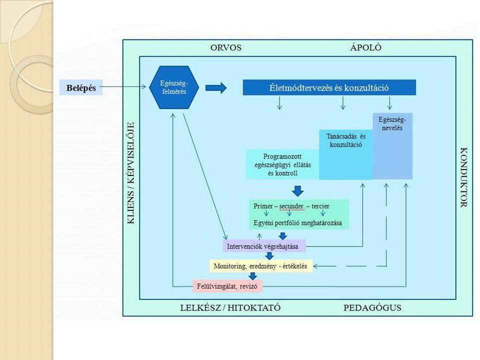 Problémakör definíció Konceptu- alizáció Operacio- nalizálás Inputok meghatá- rozása Folyamat kritériumok kialakítása Feed-back és outcome