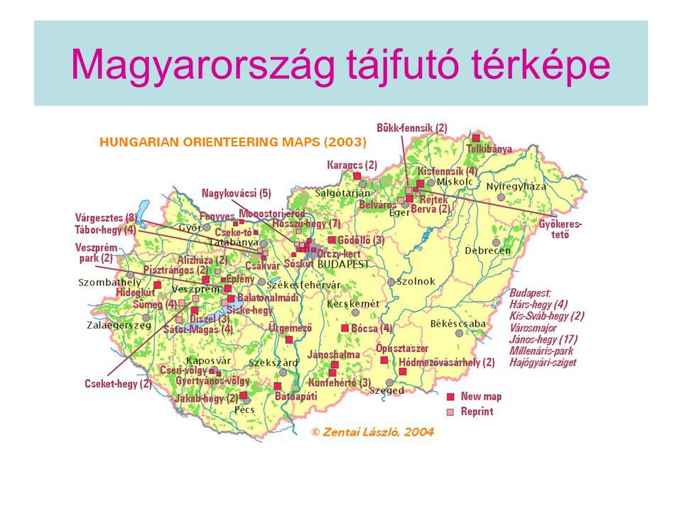 Magyarország tájfutó térképe