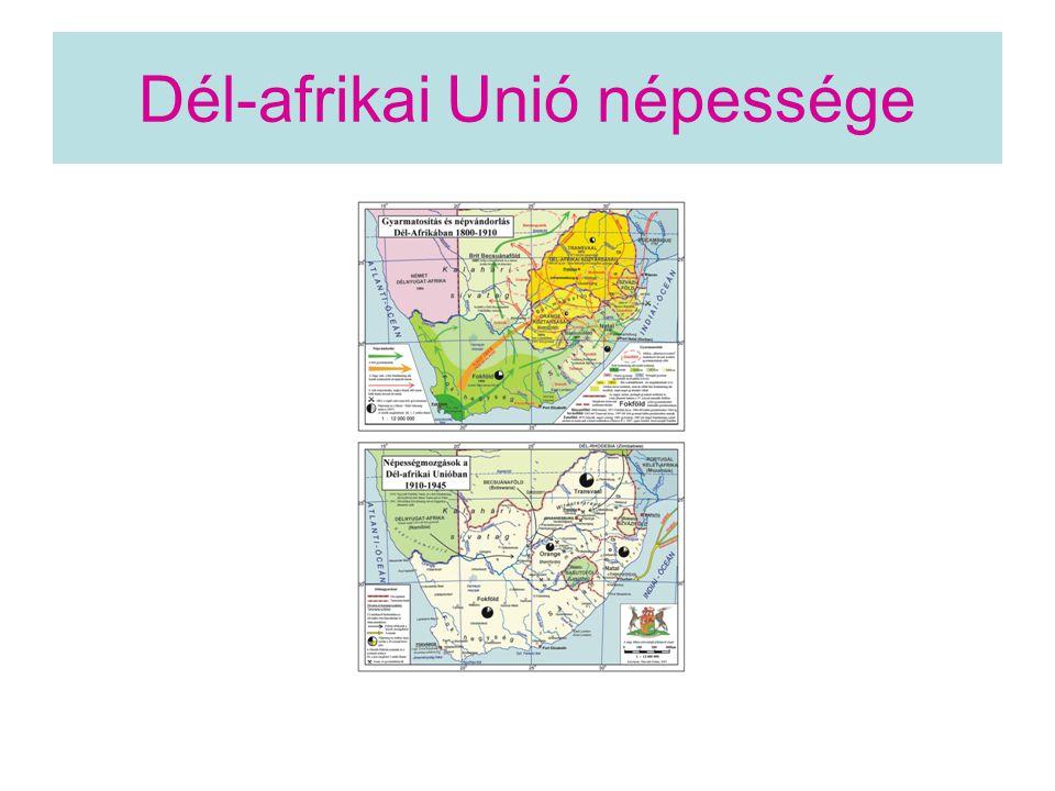 Dél-afrikai Unió népessége