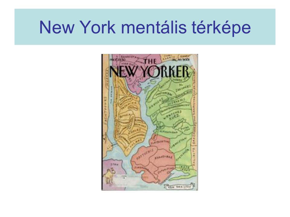 New York mentális térképe
