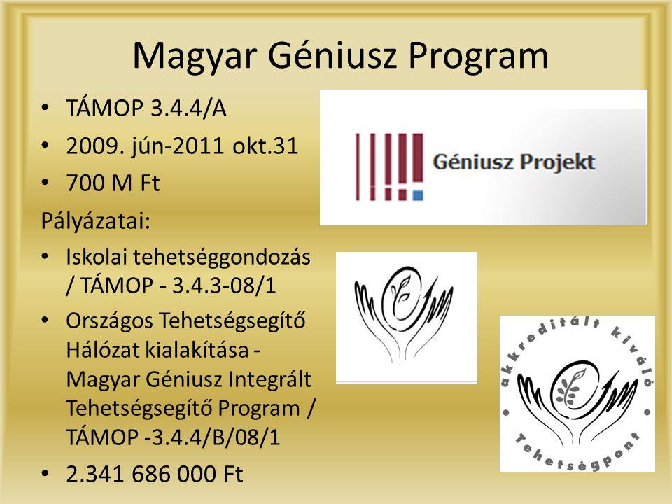 Magyar Géniusz Program • TÁMOP 3.4.4/A • 2009.
