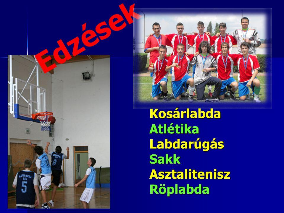 KosárlabdaAtlétikaLabdarúgásSakkAsztaliteniszRöplabda Edzések