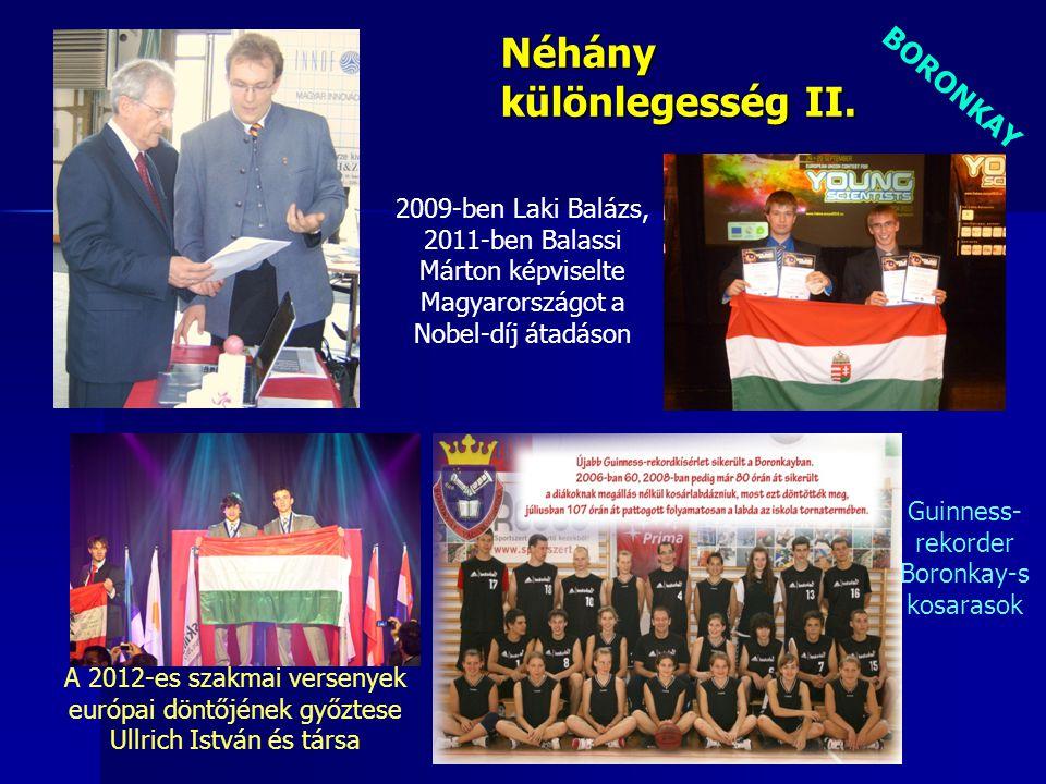 Guinness- rekorder Boronkay-s kosarasok BORONKAY Néhány különlegesség II. A 2012-es szakmai versenyek európai döntőjének győztese Ullrich István és tá
