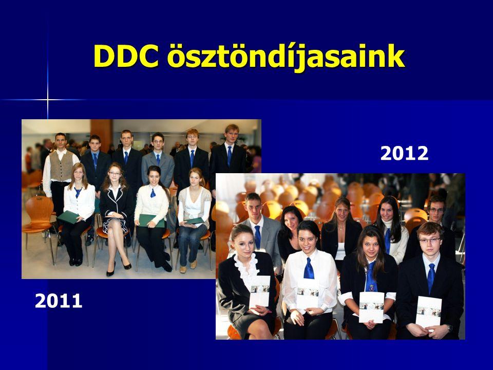 DDC ösztöndíjasaink 2011 2012