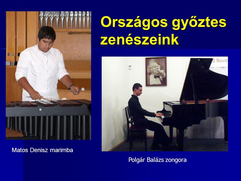 Matos Denisz marimba Országos győztes zenészeink Polgár Balázs zongora