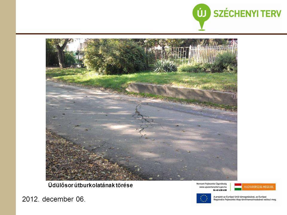 2012. december 06. Üdülősor útburkolatának törése