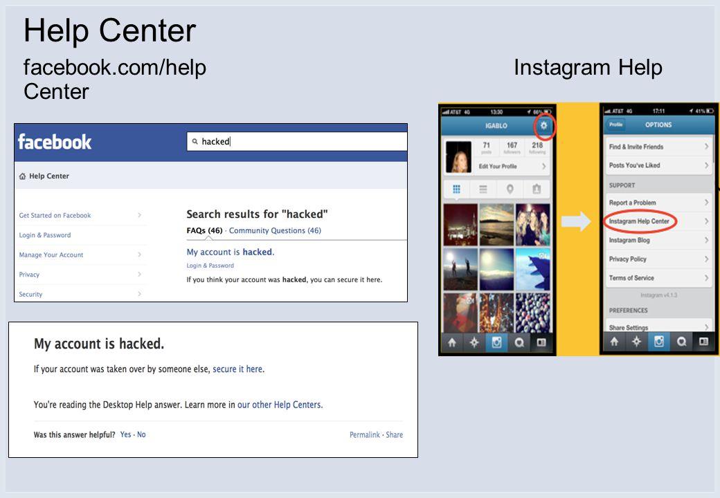 facebook.com/helpInstagram Help Center Help Center