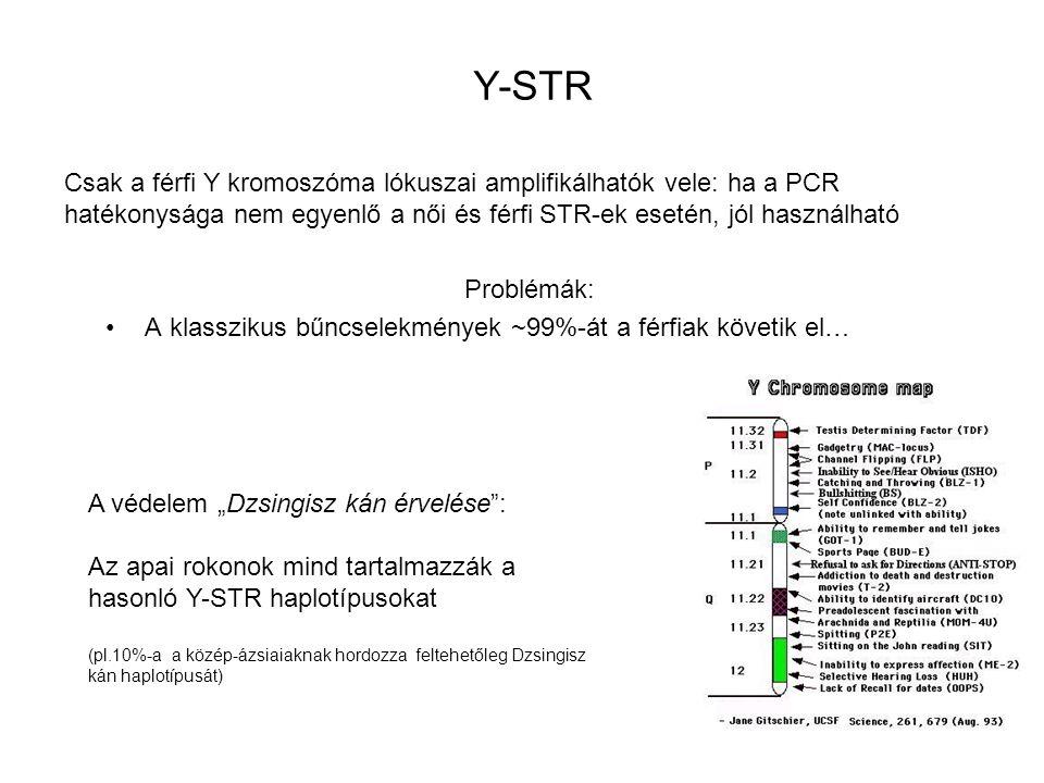 """A védelem """"Dzsingisz kán érvelése"""": Az apai rokonok mind tartalmazzák a hasonló Y-STR haplotípusokat (pl.10%-a a közép-ázsiaiaknak hordozza feltehetől"""