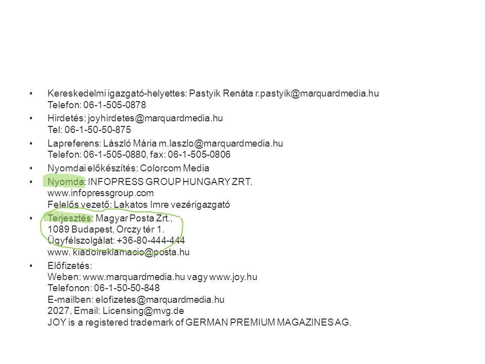 • Az impresszum az első, második vagy az utolsó oldal alján található • A szerkesztőség, kiadó, nyomda és terjesztő adatai (pontos cím, elérhetőség!) • Hirdetések felvételével kapcsolatos információk • ISSN szám: minden lap indítását be kell jelenteni, ezt jelöli a szám