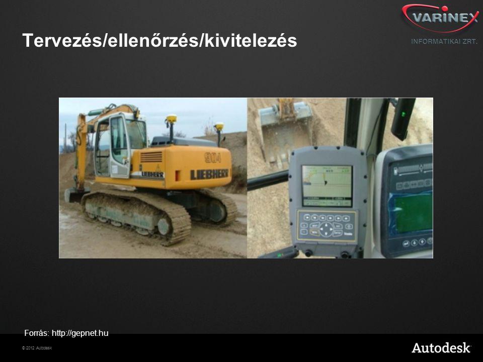 © 2012 Autodesk Tervezés/ellenőrzés/kivitelezés Forrás: http://gepnet.hu